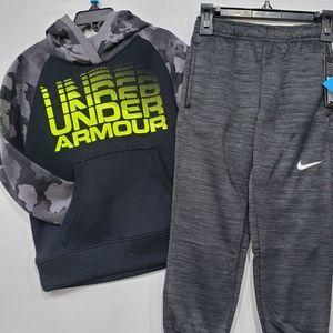🆕️ Under Armour Hoody * Nike Fleece Pants
